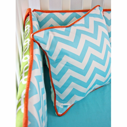 Bright Baby Green Crib Bedding Set