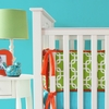 Bright Baby Green Crib Bumper