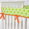 Bright Baby Green Crib Rail Cover