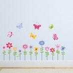 Bright Butterfly Garden Wall Decals