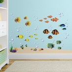 Bright Coral Reef Wall Decals