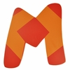Bright Orange & Red Wall Letter - M