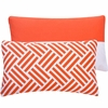 Bright Orange Stripe Lumbar Pillow