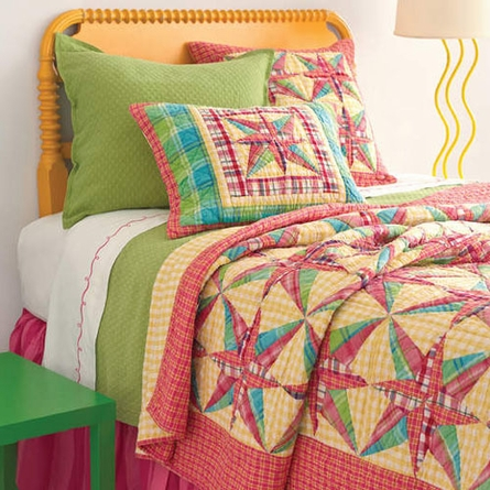 Bright Patchwork Euro Sham