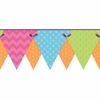 Bright Patterned Pennant Border