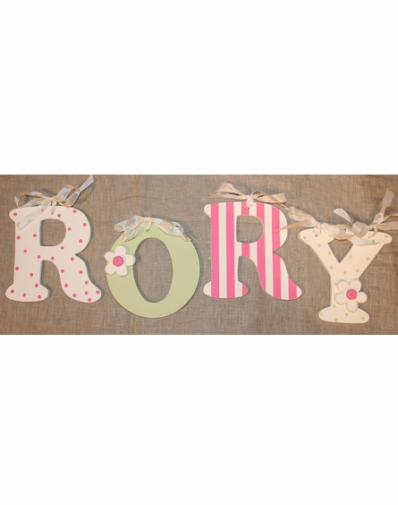 Bright Pink Polka Dot Wooden Mix & Match Wall Letter