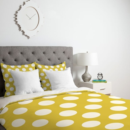 Brightest Chartreuse Lightweight Duvet Cover