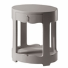 Brigitte 1-Drawer Side Table - Gray
