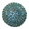 Brilliant Aqua Crystal Drawer Knob