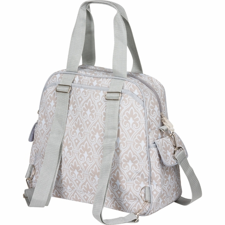 Brittany Backpack Diaper Bag in Blue Filigree