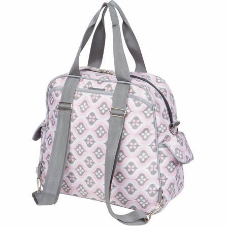 Brittany Backpack Diaper Bag in Sweet Blush Montage