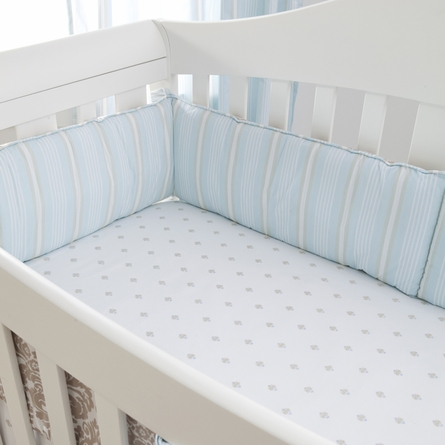 Brocade Khaki 3-Piece Crib Bedding Set