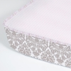 Brocade Khaki and Coco Peony Perfect Fit Crib Sheet