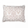 Brocade Khaki Boudoir Pillow