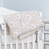 Brocade Khaki Reversible Crib Quilt