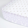 Brocade Orchid Perfect Fitted Crib Sheet