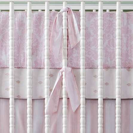 Brocade Peony 3-Piece Crib Bedding Set