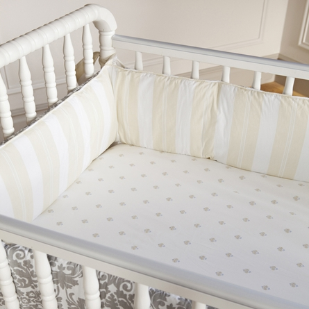Brocade Slate 3-Piece Crib Set