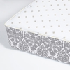 Brocade Slate Perfect Fitted Crib Sheet