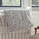 Brocade Slate Reversible Crib Quilt