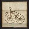Bronze Bicycle Framed Wall Art