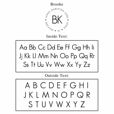 Brooke Personalized Self-Inking Stamp