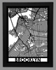 Brooklyn Framed City Map