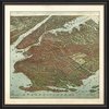 Brooklyn Map 1908 Framed Wall Art