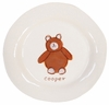 Brown Bear on White Personalized Ceramic Dish Collection