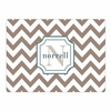 Brown Chevron Personalized Cutting Board
