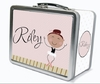 Brown Hair Ballerina Personalized Lunch Box