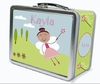Brown Hair Fairy Personalized Lunch Box