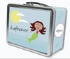 Brown Hair Mermaid Personalized Lunch Box
