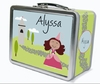 Brown Hair Princess Personalized Lunch Box