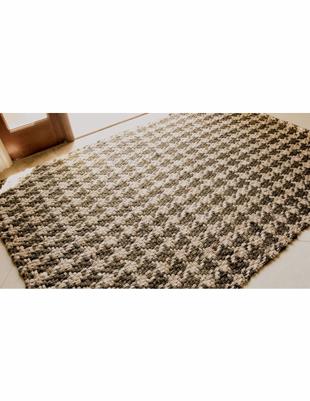 Brown Houndstooth Rug