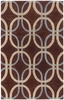 Brown Layering Ovals Rowe Rug
