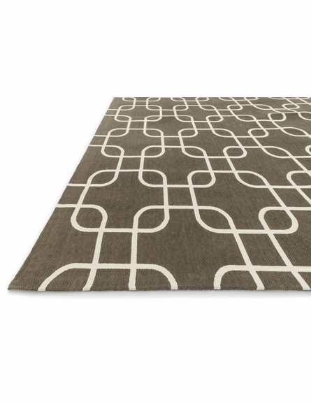 Brown Links Geo Rug