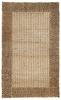 Brown Natural Diamond Braided Border Rug
