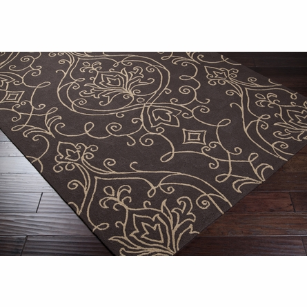 Brown Ornate Rain Rug