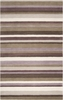 Brown Striped Madison Square Rug