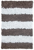 On Sale Brown Stripes Shaggy Raggy Rug