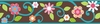 Brown & Teal Floral Scroll Peel & Stick Border
