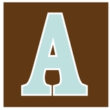 Brown with Light Blue
