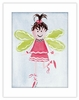 Brunette Fairy Framed Canvas Reproduction