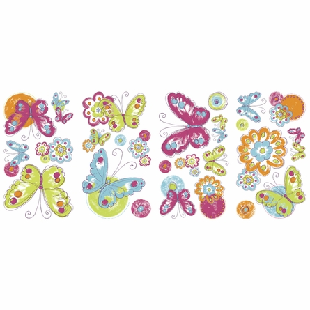 Brushwork Butterflies Wall Decals