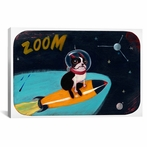 BT Rocket Print Canvas Wall Art