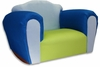 Bubble Rocking Chair in Blue and Green Microsuede