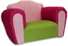 Bubble Rocking Chair in Pink and Green Microsuede