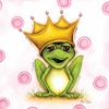 Bubbly Frog Prince Canvas Reproduction