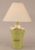 Bucket of Shells Lamp in Lime